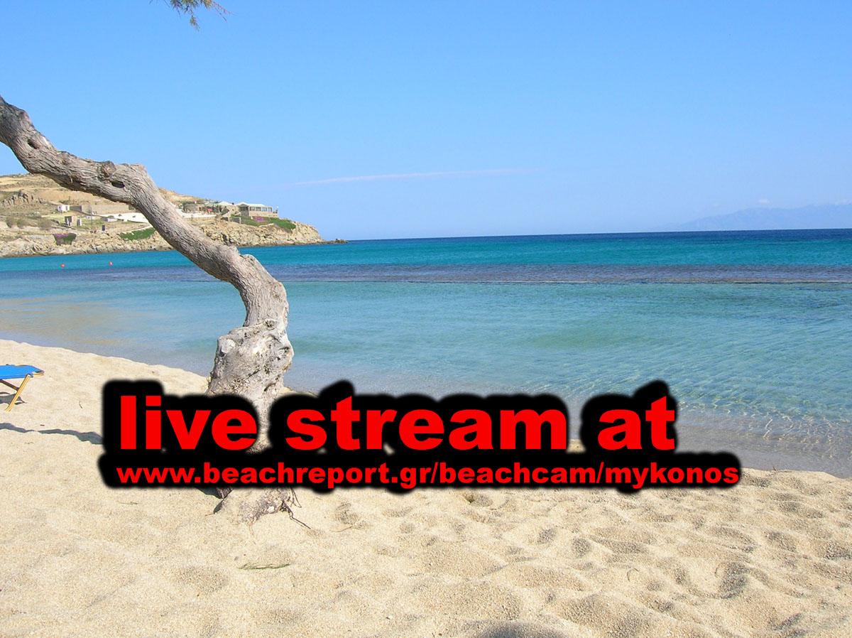Webcam Μύκονος - Paradise Beach