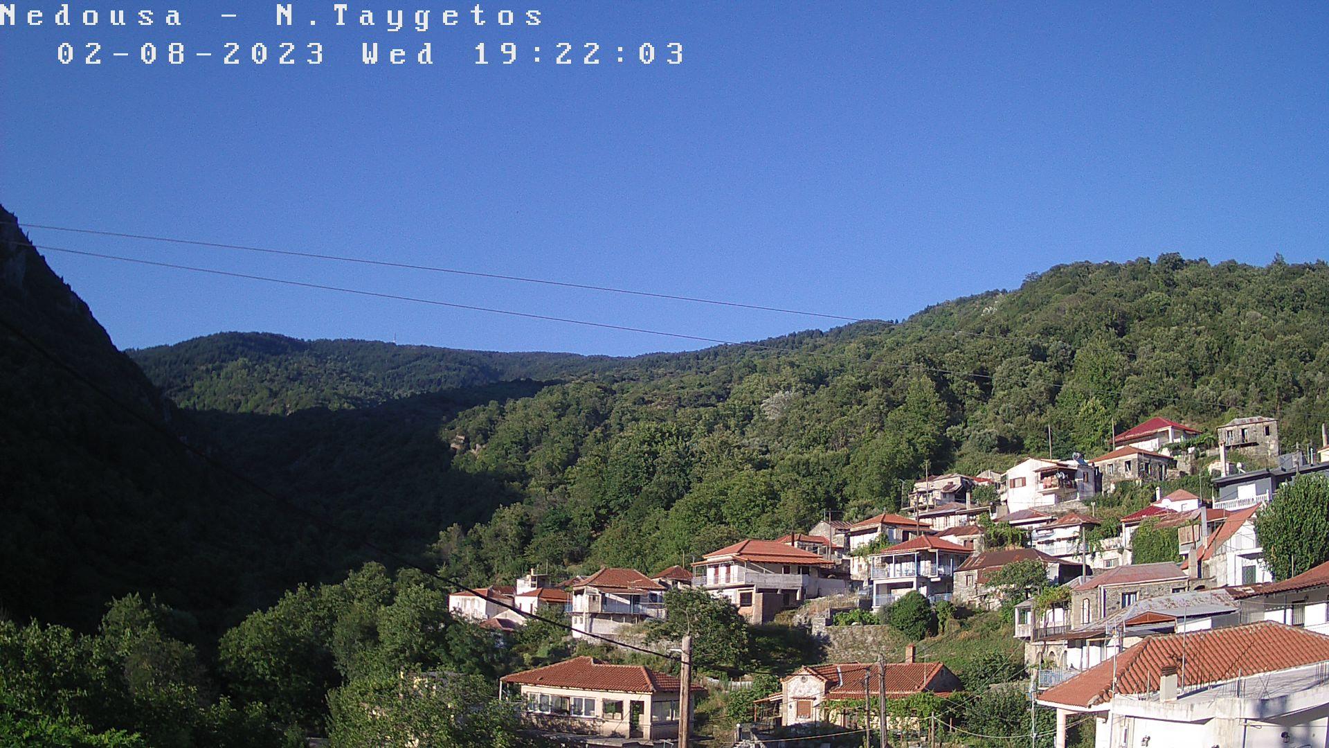 Webcam Nedoussa - Messinia - towards mount Malevo